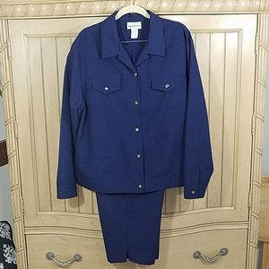 Vintage Apparenza Jacket/Capris set, sz XL